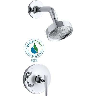 Purist 1-Handle Rite-Temp Pressure-Balancing Shower Faucet Trim Kit in Polished Chrome (Valve Not Included)