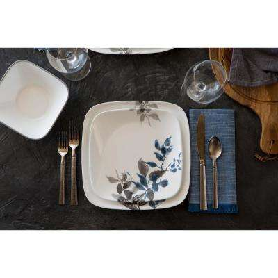 Boutique Kyoto Leaves 16-Piece Asian Inspired Kyoto Night Porcelain Dinnerware Set (Service for 4)