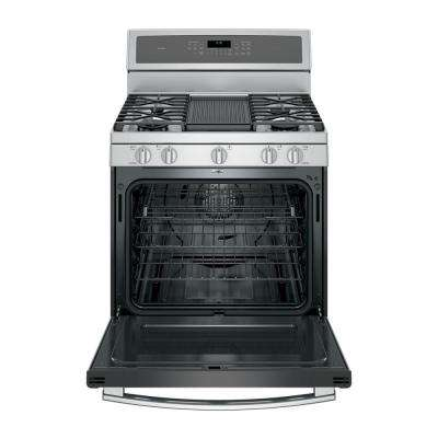 Profile 30 in. 5.6 cu. ft. Smart Gas Range with Self-Cleaning Convection Oven and WiFi in Stainless Steel