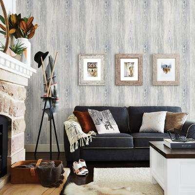 56.4 sq. ft. Mapleton Light Grey Shiplap Wallpaper