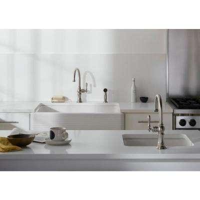 Iron Tones Dual Mount Cast Iron 21 in. Single Bowl Kitchen Sink in White