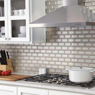 Decor Accents Silver 12 in. x 12 in. x 8 mm Glass Brick Joint Mosaic Wall Tile (0.8 sq. ft. / piece)