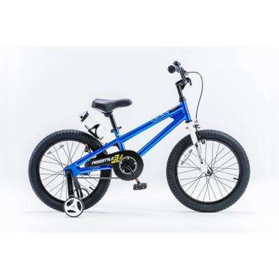 18 in. Wheels Freestyle BMX Kid's Bike, Boy's Bikes and Girl's Bikes with Training Wheels in Blue