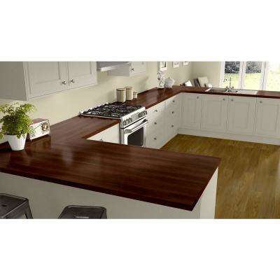 3 in. x 5 in. Laminate Countertop Sample in Williamsburg Cherry with Premium Textured Gloss Finish
