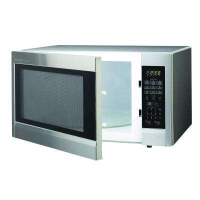 Carousel 2.2 cu. ft. 1200-Watt Countertop Microwave in Stainless Steel with Sensor Cooking