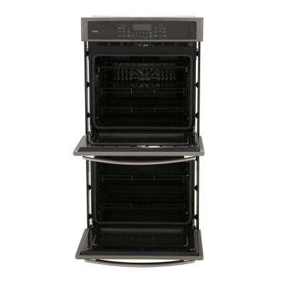 Profile 27 in. Double Electric Smart Wall Oven Self-Cleaning with Convection and WiFi in Slate, Fingerprint Resistant
