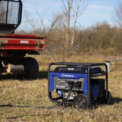 4,650/3,600-Watt Gasoline Powered RV-Ready Portable Generator With Automatic Low-Oil Shutdown And Wheel Kit
