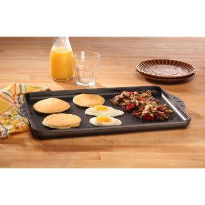 Classic Series 17 in. x 11 in. Nonstick Double Burner Griddle