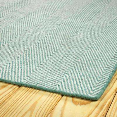 Ziggy Light Blue 8 ft. x 10 ft. Indoor/Outdoor Area Rug