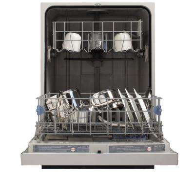 Built-In Front Control Tall Tub Dishwasher in Monochromatic Stainless Steel