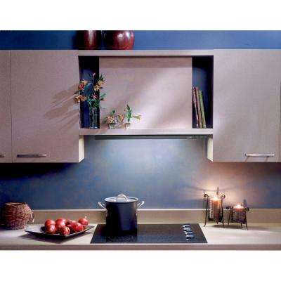 Elite 15000 Silhouette 36 in. Under Cabinet Slide-Out Range Hood with Light in Brushed Aluminum
