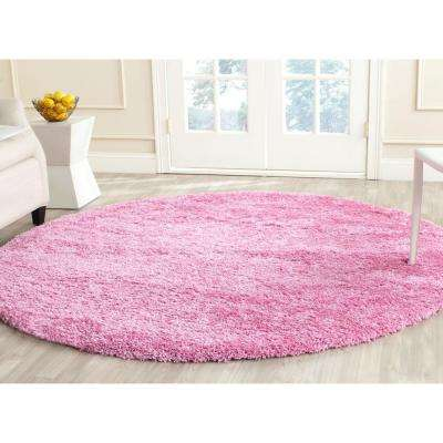 California Shag Pink 6 Ft. 7 In. X 6 Ft. 7 In.