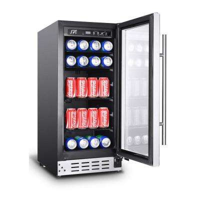 15 in. 33-Bottle Wine and 92-Can Beverage Cooler