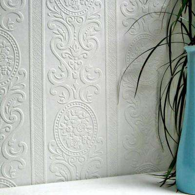 Louisa Paintable Textured Vinyl Strippable Wallpaper (Covers 57.5 sq. ft.)