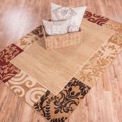 Dulcet Damask Ivory 9 ft. x 13 ft. Traditional Area Rug