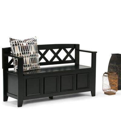 Amherst Black Storage  Bench