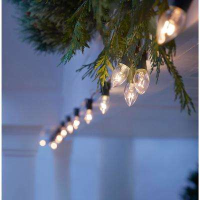 C7 25-Light Clear Color Incandescent Light String