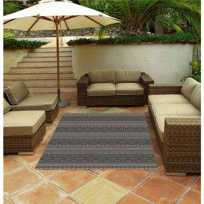Alfresco Silver 5 ft. x 7 ft. Indoor/Outdoor Area Rug