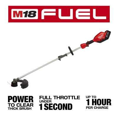 M18 FUEL 18-Volt Lithium-Ion Brushless Cordless String Trimmer with QUIK-LOK Attachment Capability and 9.0 Ah Battery