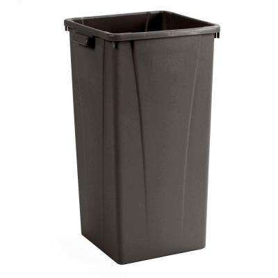Centurian 23 Gal. Brown Square Trash Can (4-Case)