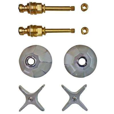 2 Valve Rebuild Kit for Tub and Shower with Chrome Handles for Savoy