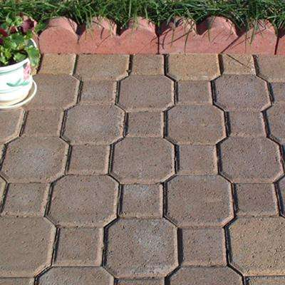 Decorastone 9.06 in. L x 5.51 in. W x 2.36 in. H 60 mm Tan/Brown Concrete Paver (350 Pieces/100 sq. ft./Pallet)