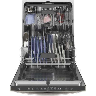 Top Control Tall Tub Dishwasher in Slate with Stainless Steel Tub and Steam Prewash, 46 dBA