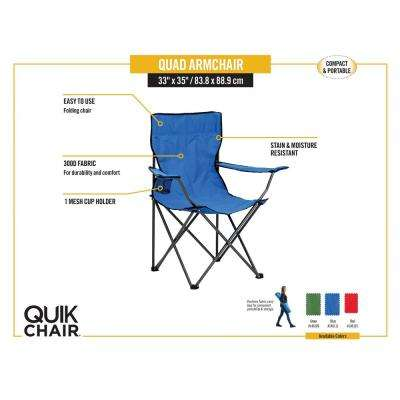 Blue Quik Chair Folding Chair