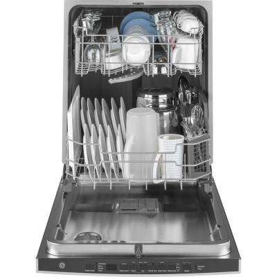 24 in. Top Control Built-In Tall Tub Dishwasher in Stainless Steel with Steam Cleaning, 50 dBA