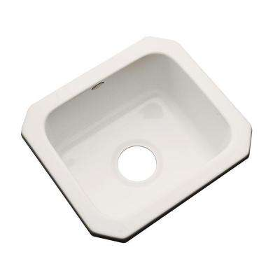 Manchester Undermount Acrylic 16 in. 0-Hole Single Basin Kitchen Sink in Natural