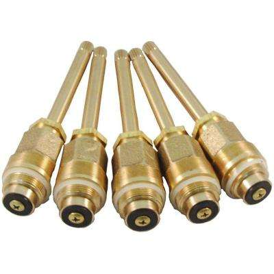 Pro Pack Gb-437 Hot and Cold Stem for Gerber in Brass (5-Pack)