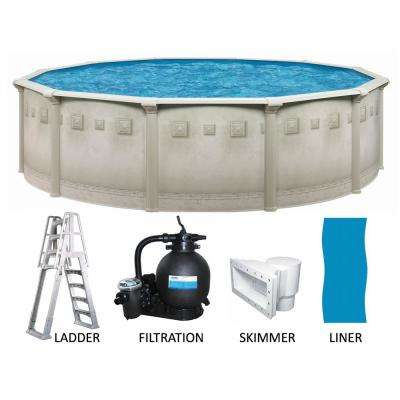 Round 52 in. Deep Hard Sided Above Ground Pool Package