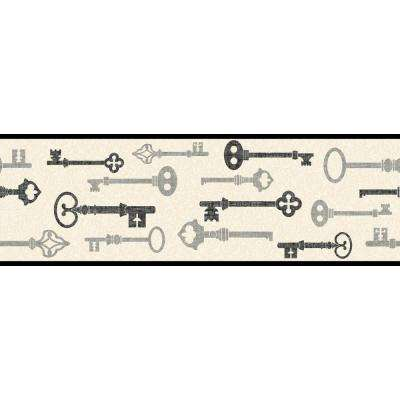 Bistro 750 Key and Mini Damask Wallpaper Border