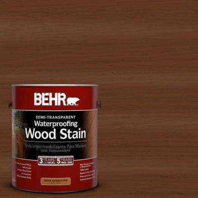 1-gal. #ST-110 Chestnut Semi-Transparent Waterproofing Wood Stain