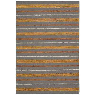 Spectrum Grey/Flame 3 ft. 9 in. x 5 ft. 9 in. Area Rug
