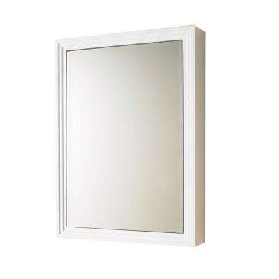22 in. W x 30 in. H x 5 in. D Framed Surface-Mount Bathroom Medicine Cabinet in White