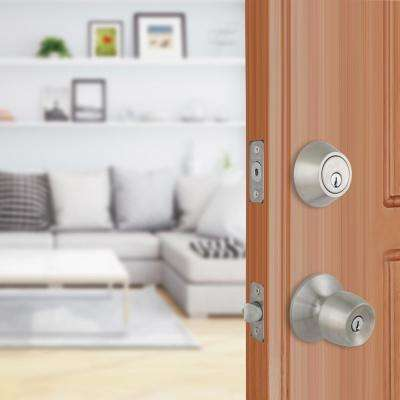 Brandywine Stainless Steel Keyed Entry Knob and Single Cylinder Deadbolt Combo Pack