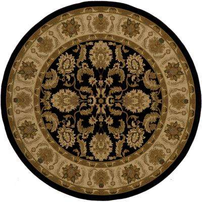 Lovely Black 7 ft. 10 in. x 7 ft. 10 in. Round Area Rug