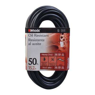 50 ft. 14/3 SJTOW Agricultural Extension Cord, Black