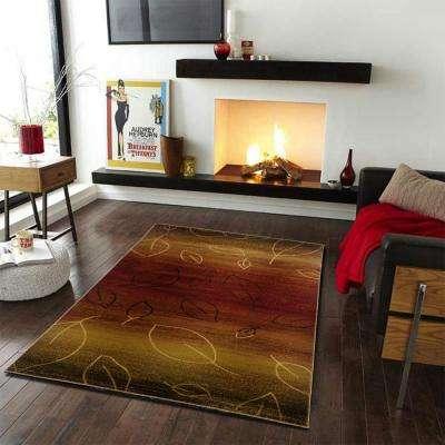 Adana Cherry/Brown 8 ft. x 10 ft. Plush Indoor Area Rug