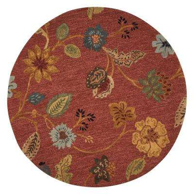 Portico Red 7 ft. 9 in. Round Area Rug