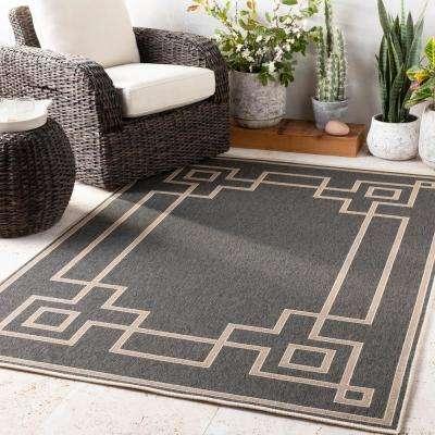 Blanche Black 2 ft. x 5 ft. Indoor/Outdoor Area Rug