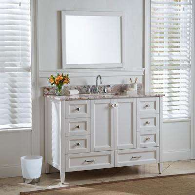 Claxby 48 in. W x 34 in H x 22 in. D Bath Vanity Cabinet Only in Cream