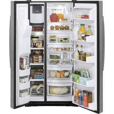23.2 cu. ft. Side by Side Refrigerator in Stainless Steel