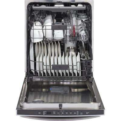 Top Control Dishwasher in Slate with Stainless Steel Tub and Steam Prewash, Fingerprint Resistant, 45 dBA