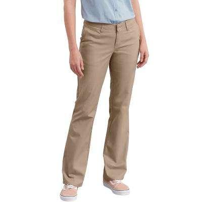 Women's Slim Fit Boot Cut Stretch Twill Pants