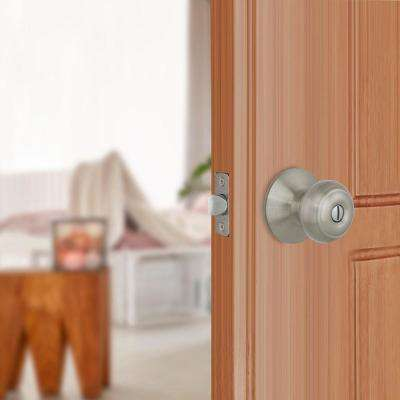 Hartford Satin Nickel Bed and Bath Door Knob