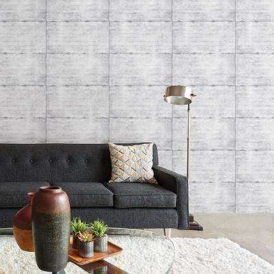 Grey Smooth Concrete Geometric Wallpaper