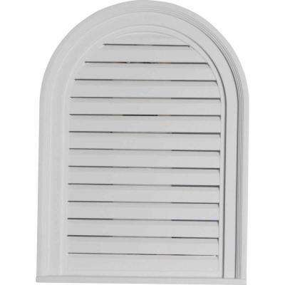 2 in. x 18 in. x 24 in. Functional Cathedral Louver Gable Vent