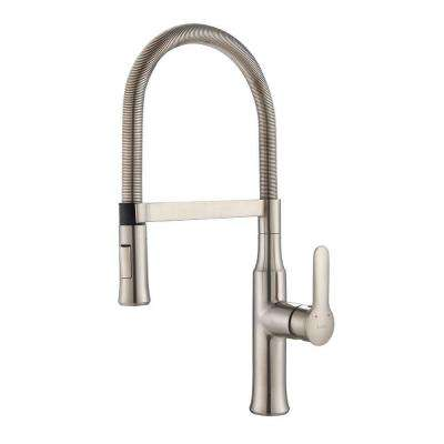 Nola Flex Single-Handle Commercial Style Kitchen Faucet with Dual-Function Sprayer in Stainless Steel